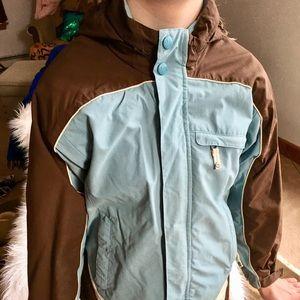 🌬Girl's REI double zipper performance jacket